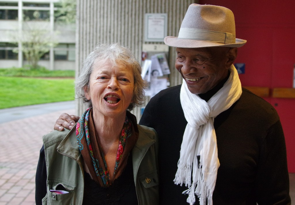 """White Supremacist's"" wife w/Robert King, a freed prisoner from Angola, founder of its Black Panther Party, and surviving member of the Angola 3"
